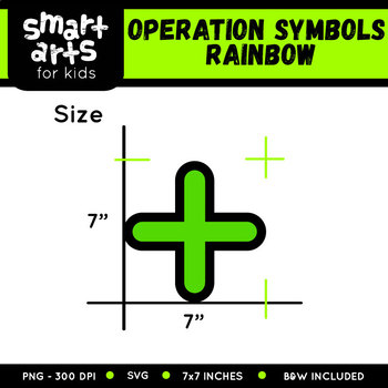 Math Operation Symbols Rainbow Clip Art