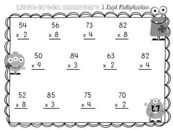 Math Operation Task Cards