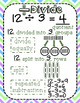 Math Operations Anchor Charts with foldable (Interactive notebook)- Common Core