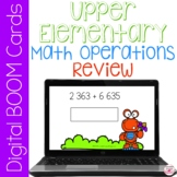 Math Operations Basic Review BOOM Cards for Distance Learn