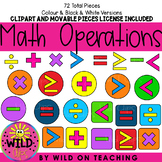 Math Operations Clip Art | With Movable Images License
