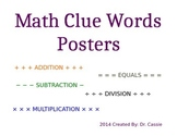 Math Operations: Clue Words Poster