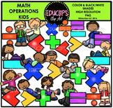 Math Operations Kids Clip Art Bundle {Educlips Clipart}