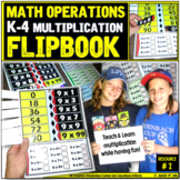 Math Operations: Multiplication Foldable Notebook