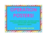 Math Operation Posters (Rainbow Stripes)!