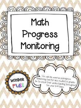 Math Operations Progress Monitoring