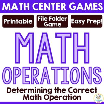 Math Operations Review Game
