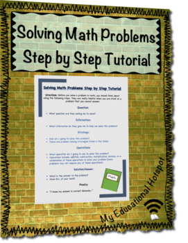 Math Operations Step by Step Tutorial Reference Sheet Poster
