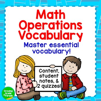 Math Operations Vocabulary