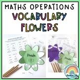 Math Operations Vocabulary Flowers - Math Vocab