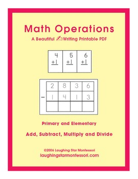 Math Operations Writing