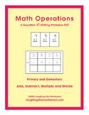 Math Operations Writing