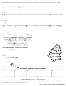 Math Operations and Algebraic Thinking Quizzes, Part 1
