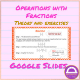 Operations with Fractions Google Slides
