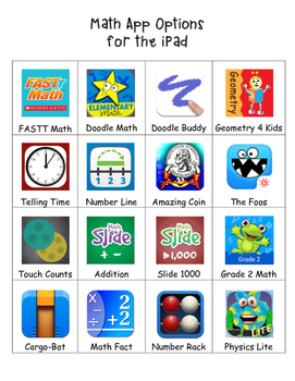 Math Options for iPad