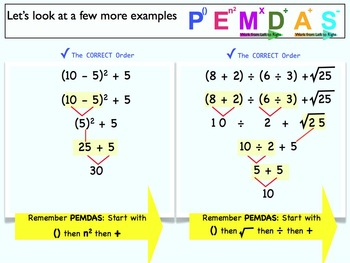 math order of operations pemdas pdf by jj smith tpt