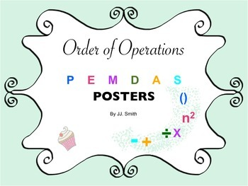 Math Order of Operations: PEMDAS Poster (Printables)