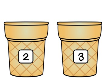 Math Ordering Numbers Game- Ice Cream Theme