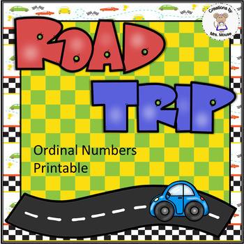 Ordinal Numbers - Road Trip