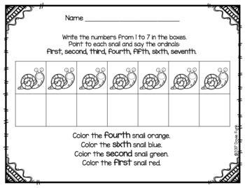 Math Ordinals Printable Worksheets - Morning Work
