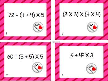 Math: Ordre des opérations, Concepts, Activités, Cartes à tâche, 35 pages