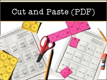 Math Ornament Cut and Paste Activities - No Prep