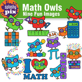 Math Owls Clipart