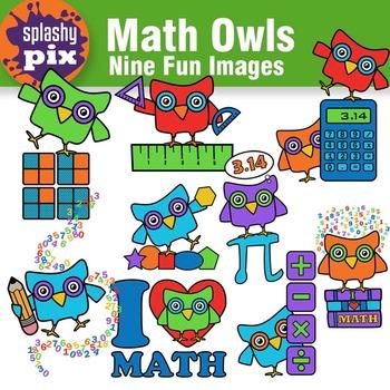 Math Owls Clipart
