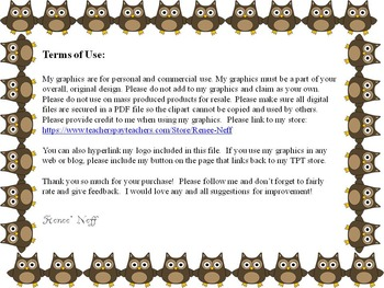 Math Owls for Personal and Commercial Use