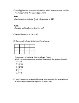 Math End of The Year Test Prep- 4th Grade