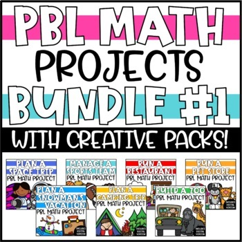 Cumulative Math PBL Enrichment Projects - The Math & Writing BUNDLE!