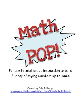 Math POP!  Saying numbers up to 1000