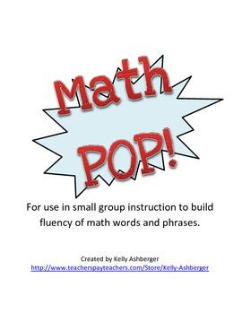 Math POP!  Fluency of Math Words