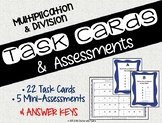 Math Task Cards and Assessments for Multiplication/Division