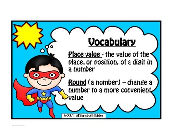 Math Rounding Task Cards & Assessments