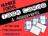 Math Task Cards and Assessments for Number Sense (Expanded and Word Form)