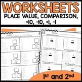 Math Worksheets 1st Grade [Place Value, plus 1, minus 1, plus 10, minus 10]