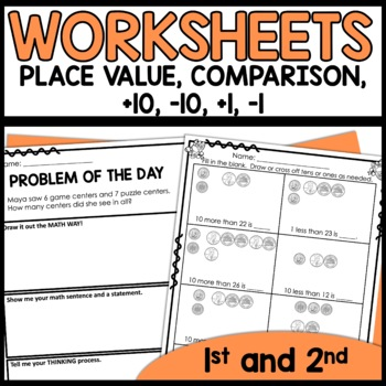 math worksheets 1st grade place value plus 1 minus 1 plus 10 minus 10. Black Bedroom Furniture Sets. Home Design Ideas
