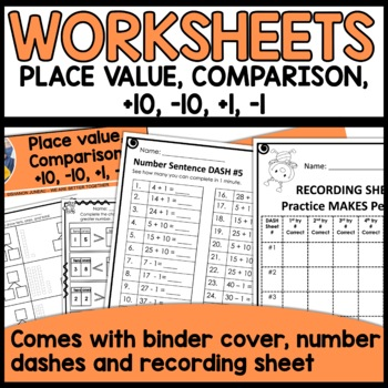 Math Worksheets 1st Grade [Place Value, plus 1, minus 1, plus 10, minus 10]