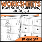 Math Worksheets 1st Grade [Place Value, plus 1, minus 1, p