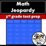 3rd grade Math review for end of year or state test- Jeopardy style- editable