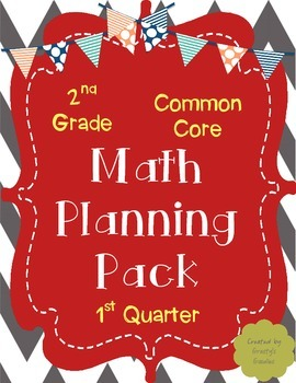 Free math lesson plans bundled resources lesson plans teachers math planning pack for 1st quarter 2nd grade common core fandeluxe Images
