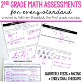 Math Pacing and Quarterly Assessments for 2nd Grade