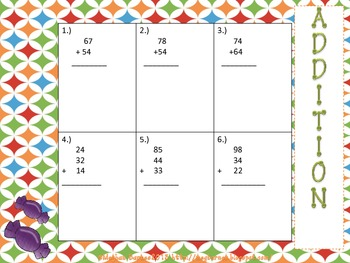 Math Pack #3 Addition and Subtraction With and Without Regrouping