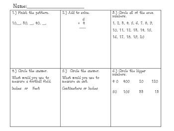 Math Packet #2