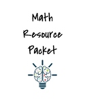 Math Packet Cover Page