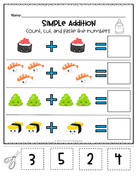 Math Packet - Patterns, Counting, Adding, & More!