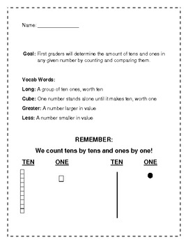 Math Packet: Tens and Ones