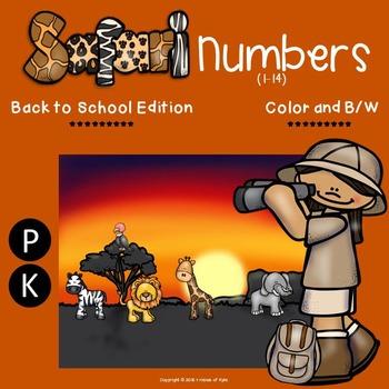 Math Packet Safari (Numbers 1-14)