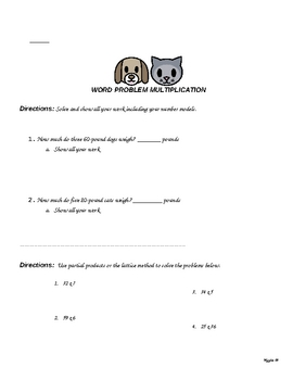 Math Packet for Kids (Summer Review, Tutoring or Home Schooling)